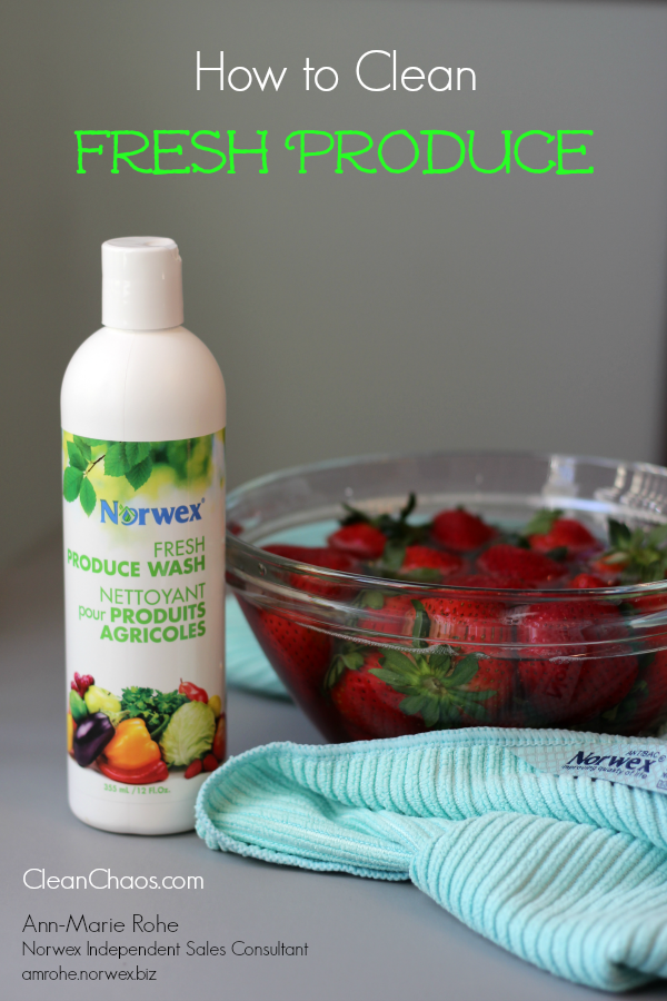 Tips on how to clean fresh produce, in a healthy way with no chemicals.