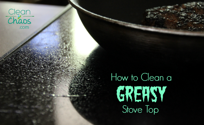 Home cleaning tip: How to clean a greasy stovetop. Use an eco-friendly product for safe cleaning around the house!