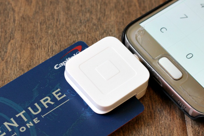 Swipe credit cards with a Square reader.