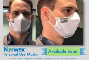 Norwex Personal Use Masks will be available soon, to provide safety, care and comfort for individuals, with the added benefit of self-purification with our BacLock microsilver embedded into the microfiber of each mask.