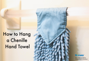 How to hang a Norwex Chenille Hand Towel