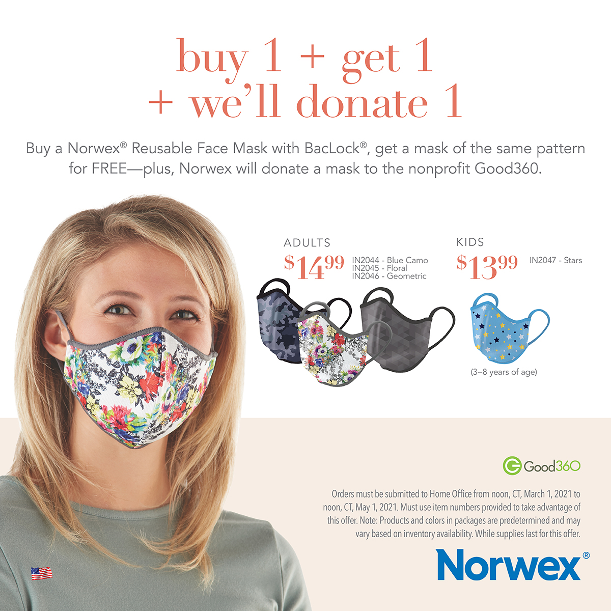 Norwex mask sale donate mask
