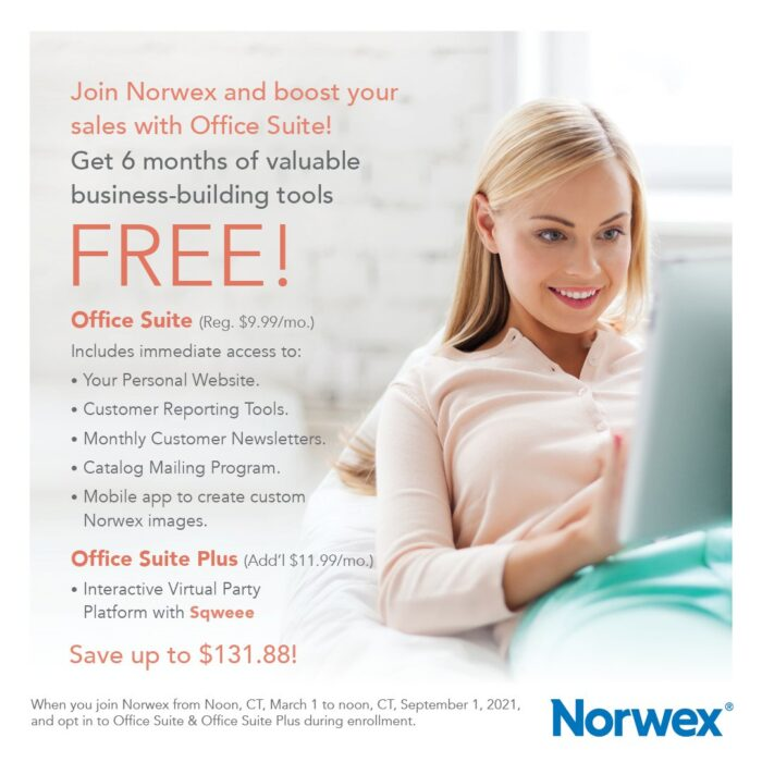 Norwex new consultant incentive March 2021