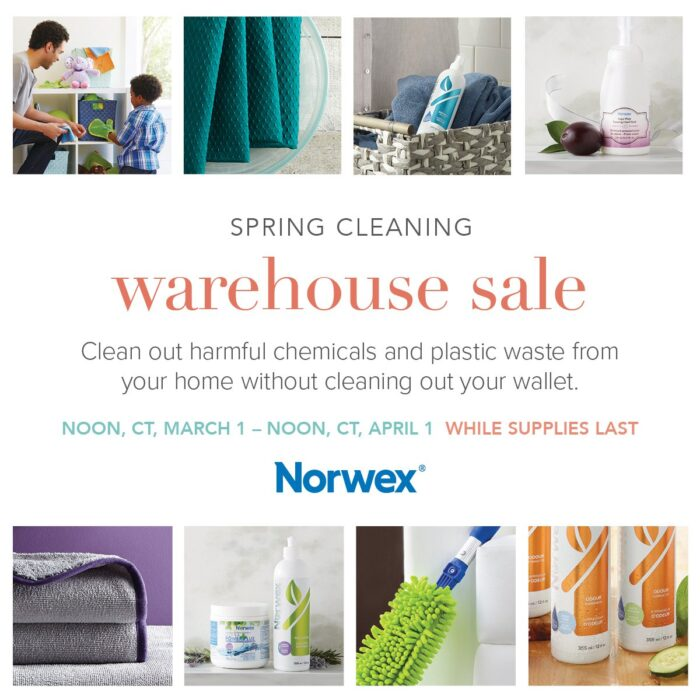 Norwex Warehouse Sale spring 2021