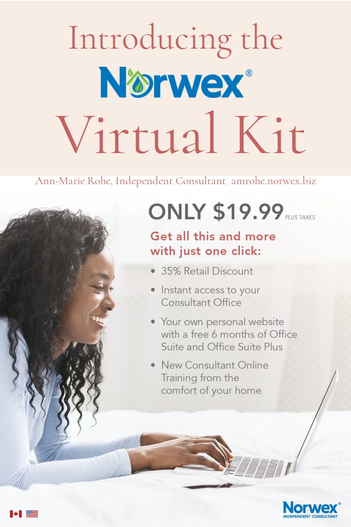 Norwex Virtual Starter Kit available as one of two kit options when new consultants join during May!